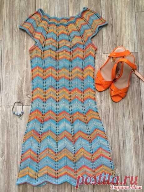 Моё радужное платье Миссони спицами - Вязание - Страна Мам
