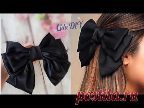 DIY How to Make a Fabric Bow - Sailor Hair Bow Tutorial, Hair Accessories, Hair Clip, Lazos de tela