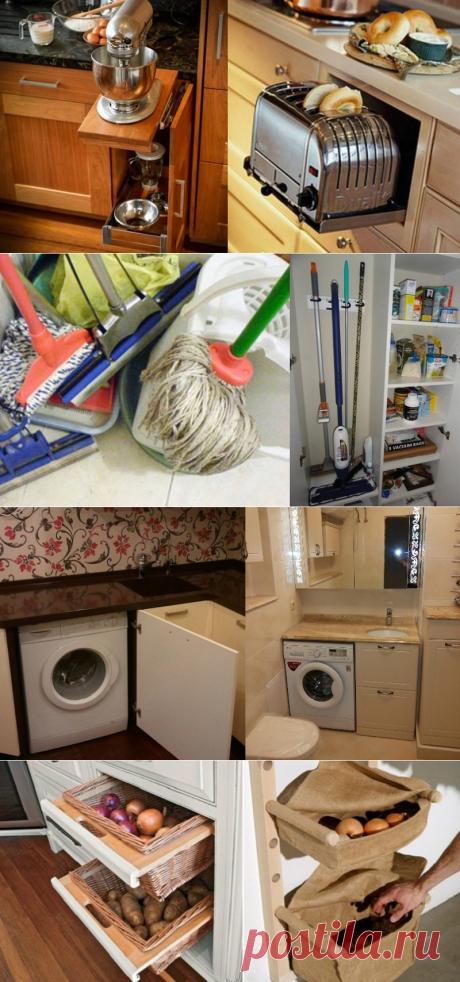 10 умных идей для хранения вещей в доме... Пригодятся всем хозяйкам!