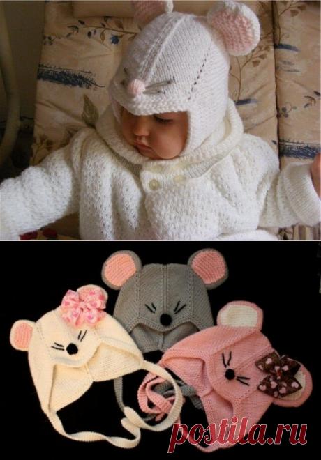Простой способ связать чудесную шапочку «Мышонок» для самых маленьких | Идеи рукоделия | Яндекс Дзен
