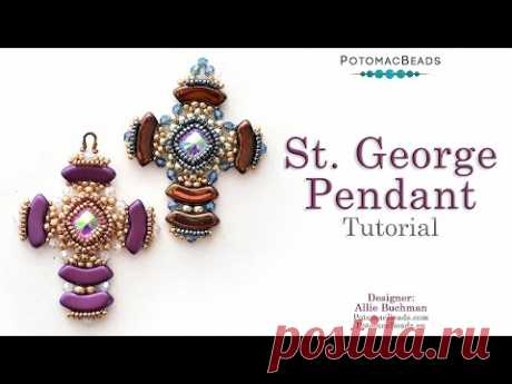 St. George Pendant - DIY Jewelry Making Tutorial by PotomacBeads