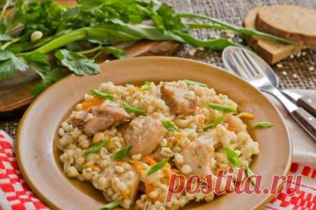 Перловая каша с мясом в духовке — Sloosh – кулинарные рецепты