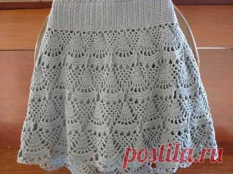 Узор крючком для летней юбки
