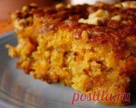 Постный кекс с цитрусовыми, морковью и яблоком | Самые вкусные кулинарные рецепты