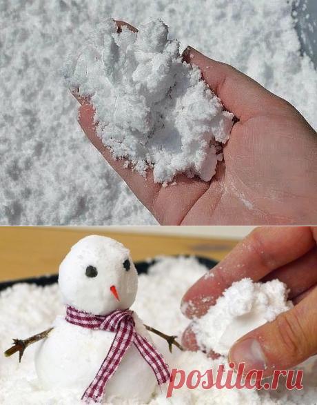 Супер-рецепт искусственного снега — Сделай сам, идеи для творчества - DIY Ideas