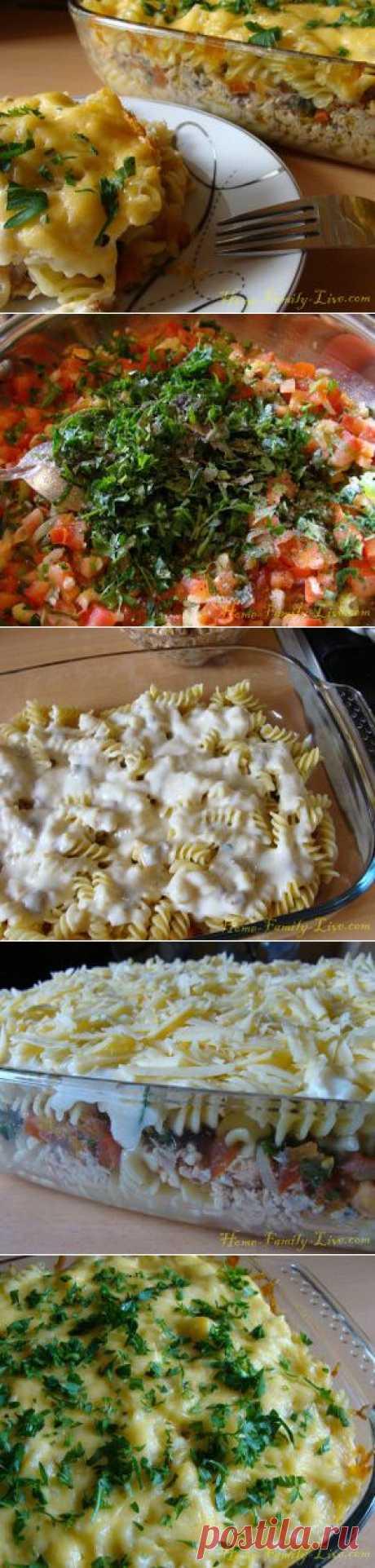 Макаронная запеканка - Кулинарные рецепты