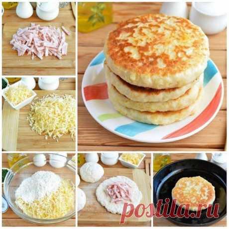 Сырные лепешки с начинкой — Sloosh – кулинарные рецепты