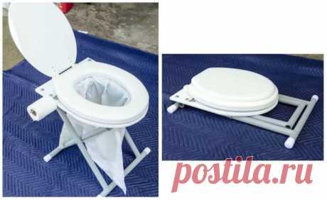 Делаем складной туалет для дачи или кемпинга / Домоседы