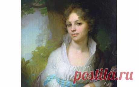 Портрет М.И. Лопухиной» Владимира Боровиковского, 1797 год.