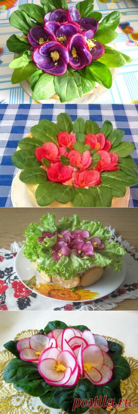 """Красивейший салат """"Фиалки"""" + видео-рецепт + варианты украшения!"""