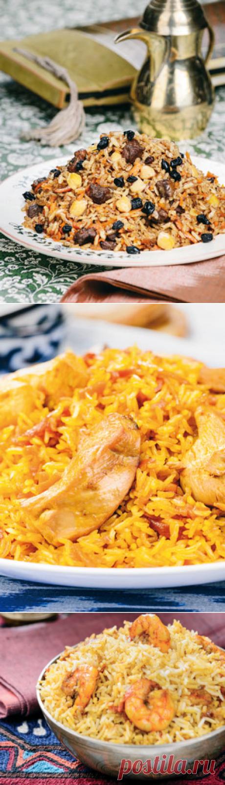Правильный плов - три рецепта: с курицей, нутом и морепродуктами. Восточная кухня