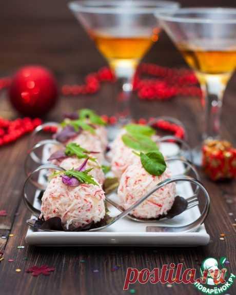 Салат-закуска из крабово-сырных шариков - кулинарный рецепт
