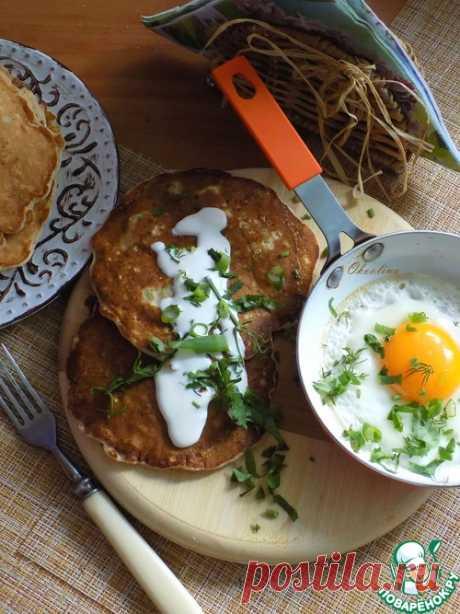 Толстые овсяные блины с брокколи – кулинарный рецепт