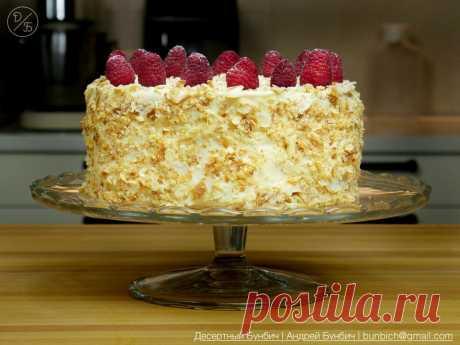 """Как приготовить торт """"Наполеон"""" дома, даже если у вас совсем нет опыта. Объясняет кондитер   Десертный Бунбич   Яндекс Дзен"""