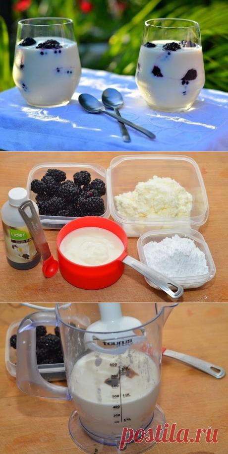 Как приготовить творожный десерт с ежевикой - рецепт, ингридиенты и фотографии