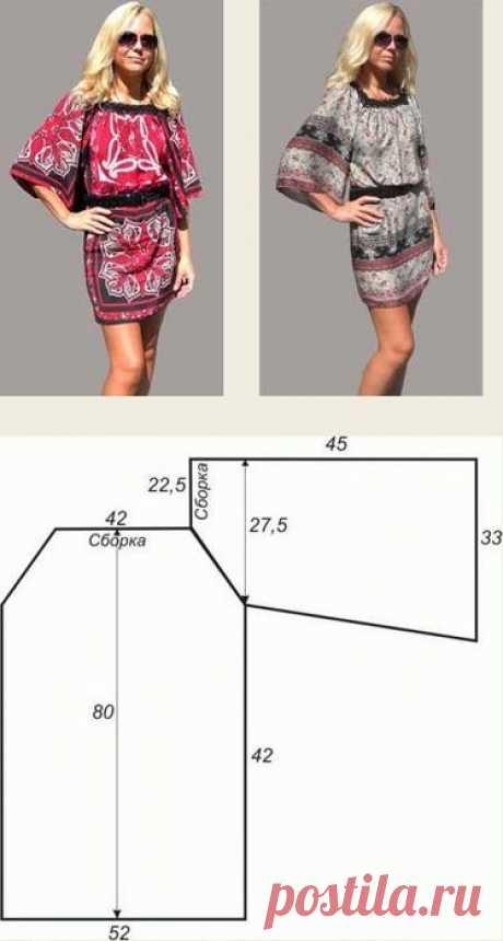 Туники любого размера — шьем быстро и легко