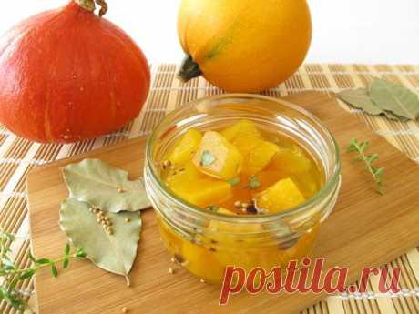 Рецепт маринованной тыквы с чесноком