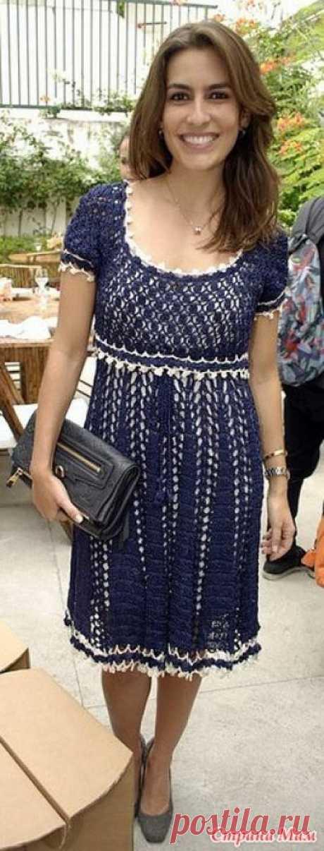 441a3583fc6 Стильное синее платье по мотивам. Это элегантное стильное платье с  завышенной талинй большим вырезом