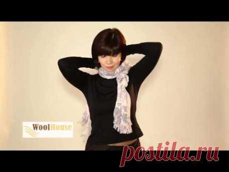 Искусство завязывания шарфов от WoolHouse - YouTube