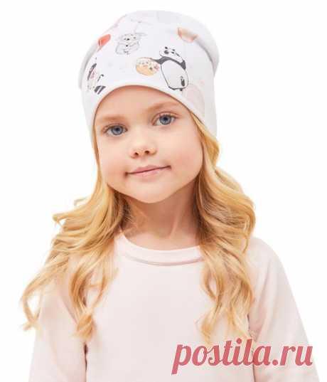 Детская шапка на весну  #головной_убор@dama_vykrojki