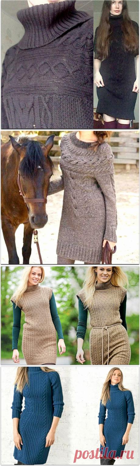 Уютные и красивые платья спицами на осень и зиму | Paradosik_Handmade | Яндекс Дзен