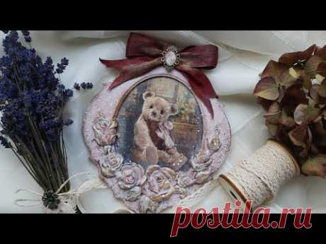Vintage pendant with a teddy bear ♡♡♡ Inspiration for Itd Collection