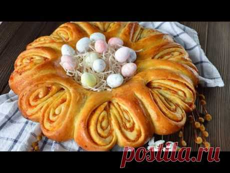 Easter WREATH ☆ Barmy PIE with dried apricots