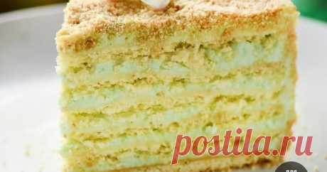 """Торт """"Яблочная свежесть"""" Нежнейший, тающий во рту яблочный тортик💛"""
