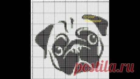 Изображение:Схемы для вязания жаккарда крючком.Собаки.Часть2. - YouTube Найдено в Google. Источник: youtube.com.