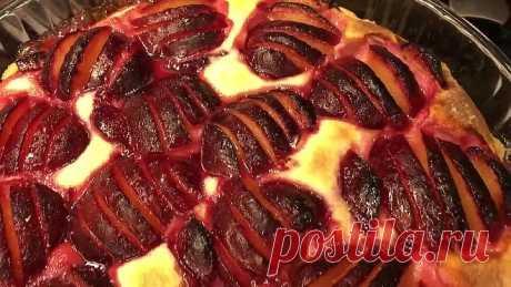 Творожный Пирог со Сливами «Дачные посиделки»