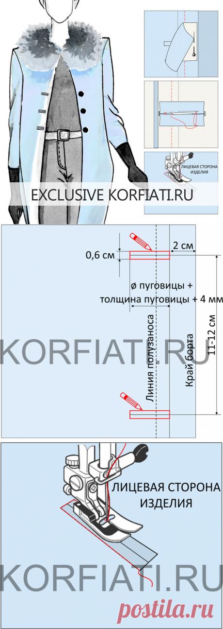 Обтачные петли - технология изготовления от Анастасии Корфиати