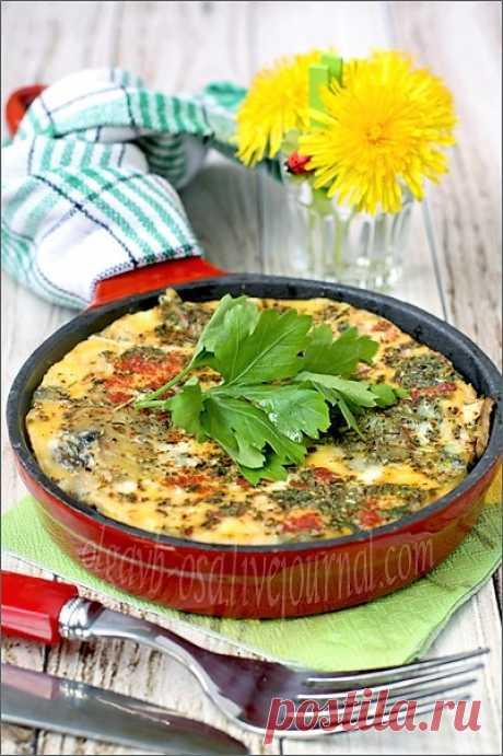 Фриттата с грибами и картофелем. Фриттата – это традиционный итальянский омлет, который готовят с самыми разными начинками.