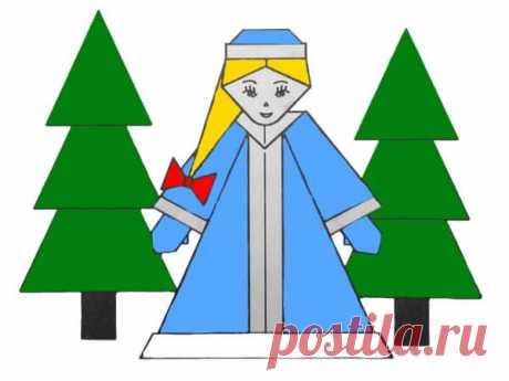 Оригами Снегурочка: новогодние поделки с детьми ~ Свое рукоделие