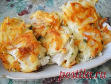 Рыба под тертой картошкой в духовке. Просто и вкусно | Вкусно и полезно | Яндекс Дзен