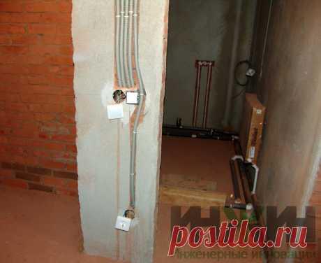 Монтаж электропроводки в кирпичном доме 475