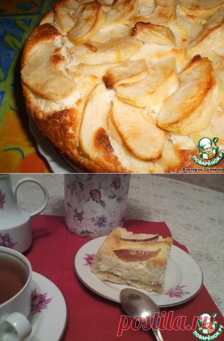 Творожно-яблочный пирог – кулинарный рецепт