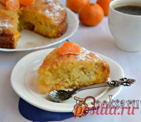 El pastel de mandarina de la foto la receta de la preparación
