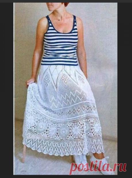 Красивая юбка Автор Елена Обухова | Шедевры крючком