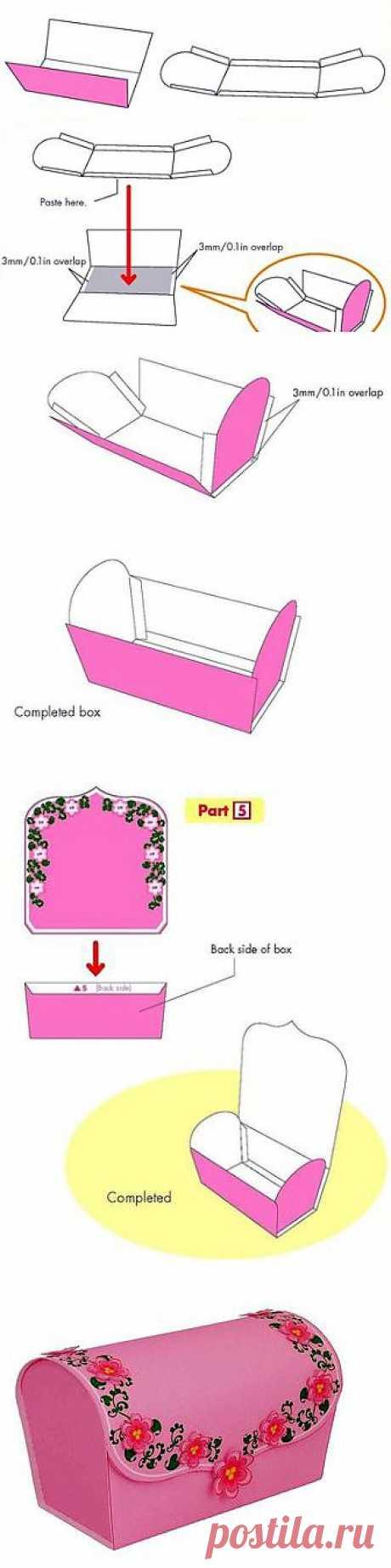 Изготовление Бонбоньерки / Работа с бумагой / PassionForum - мастер-классы по рукоделию