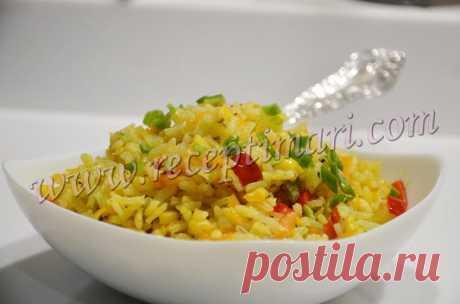 Вкусный рис с овощами. Рис с овощами на гарнир.