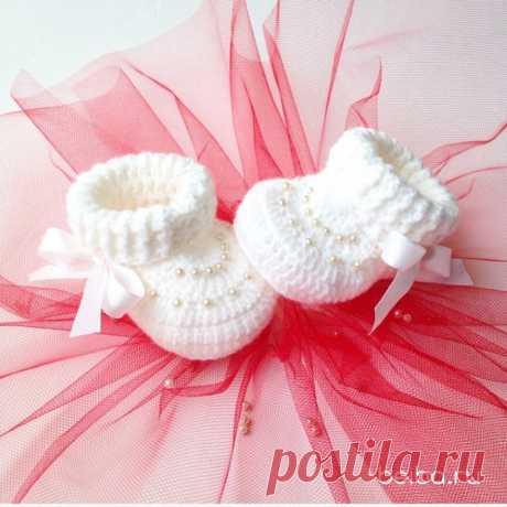 Пинетки с вышивкой бисером | Beiba.ru - идеи для вязания | Яндекс Дзен