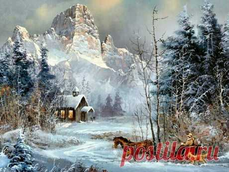 Оригинал схемы вышивки «domek w górach» - Вышивка крестом