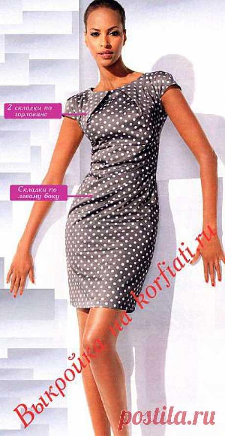 ШКОЛА ШИТЬЯ: Выкройка платья в горох от Анастасии Корфиати