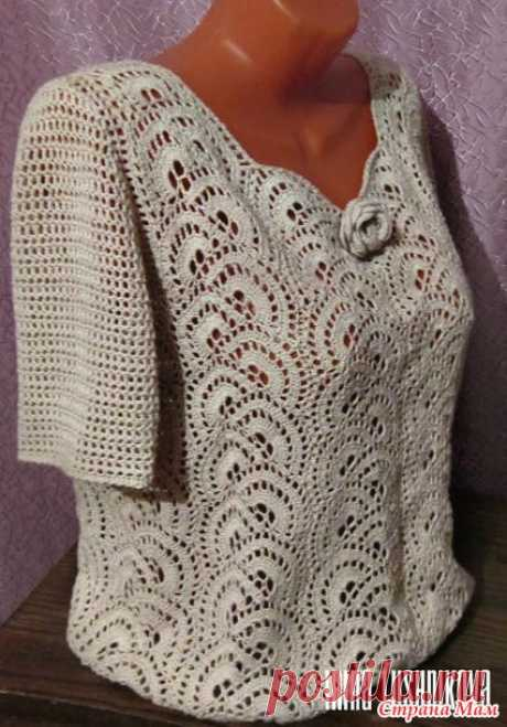 Блузка-ленточное кружево - Вязание - Страна Мам