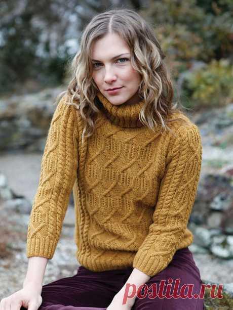 свитер спицами parlan