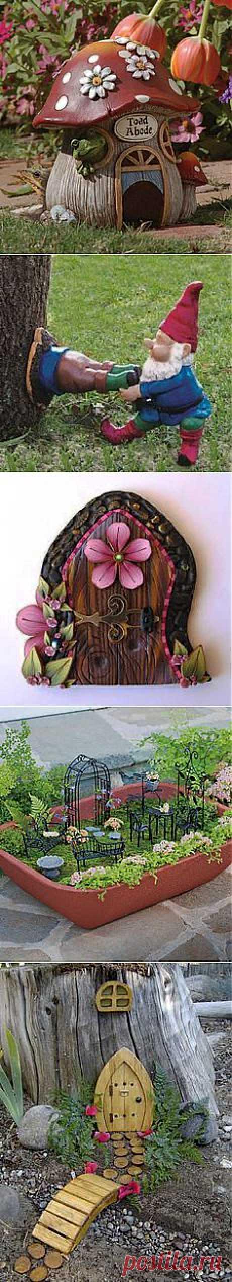 Gardening: Fairy Gardens в Pinterest