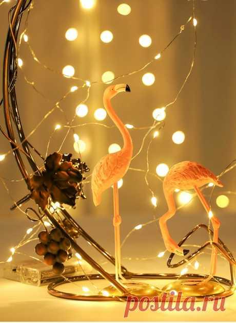 1 10 м светодиодные гирлянды медная проволока сказочные огни ночник для рождественской гирлянды комнаты спальни комнатной свадьбы украшения лампы|Светодиодная лента| | АлиЭкспресс
