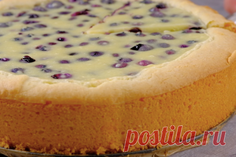 Финский пирог с черникой - рецепт на скорую руку | Fresh.ru домашние рецепты | Яндекс Дзен