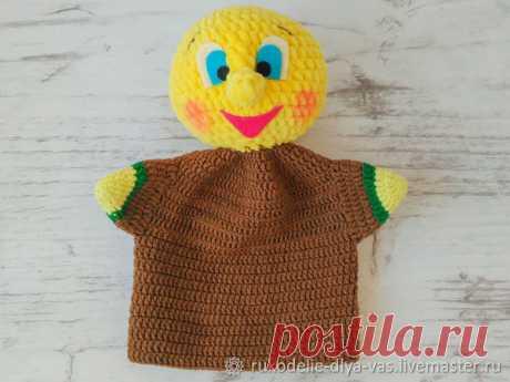 Мастер-класс смотреть онлайн: Вяжем куклу-перчатку «Колобок» | Журнал Ярмарки Мастеров