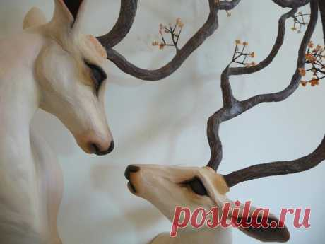 Beautiful Fantasy Sculptures by Natasha Cousens   Designwrld Inspired by nature's forest animals such as deer, foxes and hares, New Zealand artist Natasha Cousens creates beautiful fantasy sculptures.